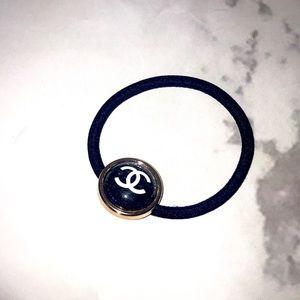 Chanel hair tie black glitter gwp